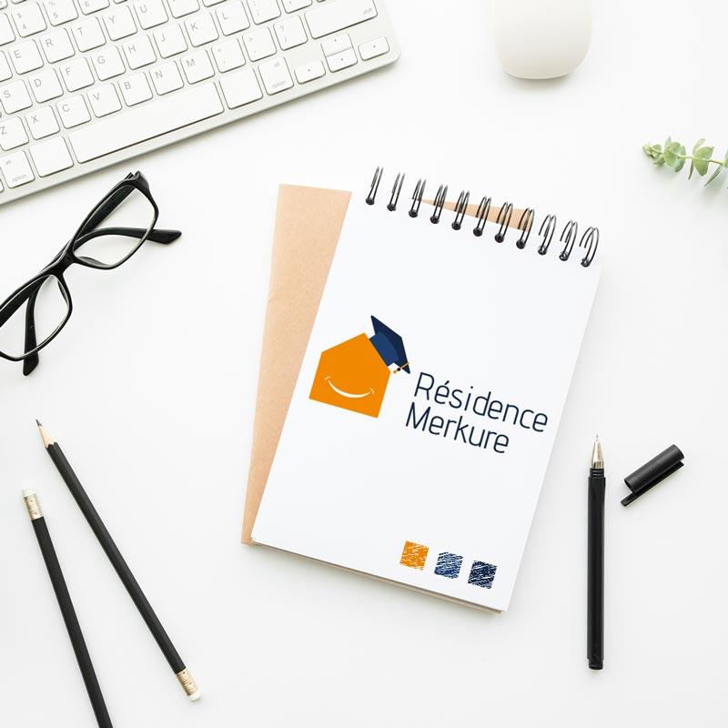 création de logo résidence merkure