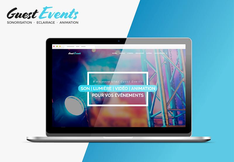 création de site internet Guest Events