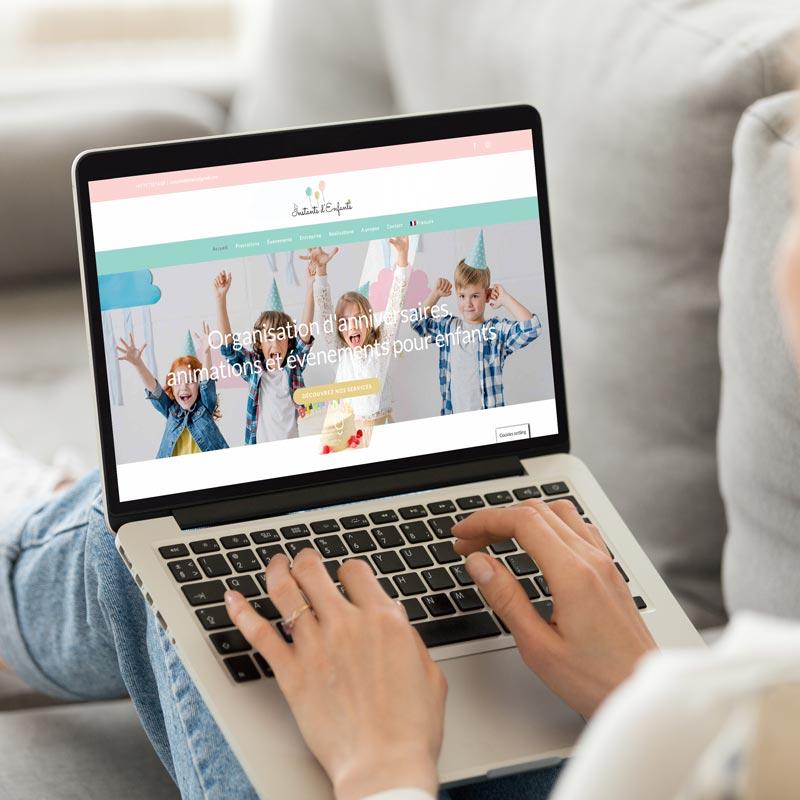 création de site internet instants-denfants.ch