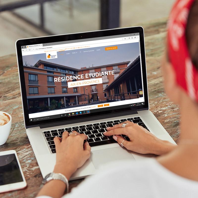 création site internet, webdesign et développement de la résidence merkure