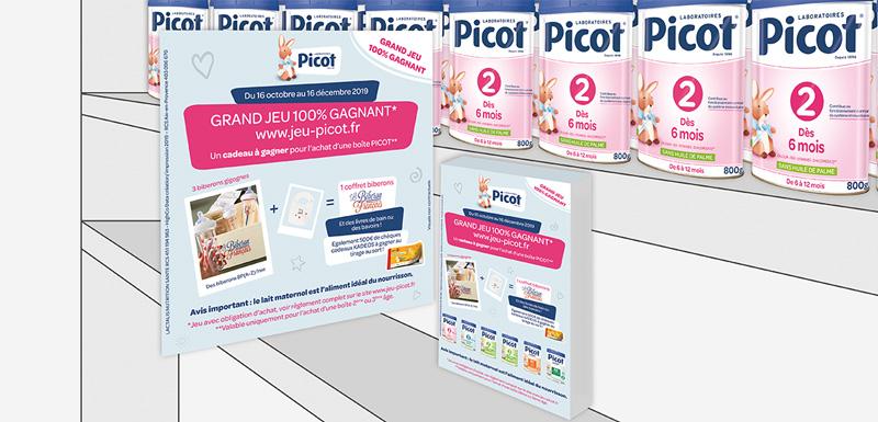 Création graphique pour Picot : stop rayon et leaflet