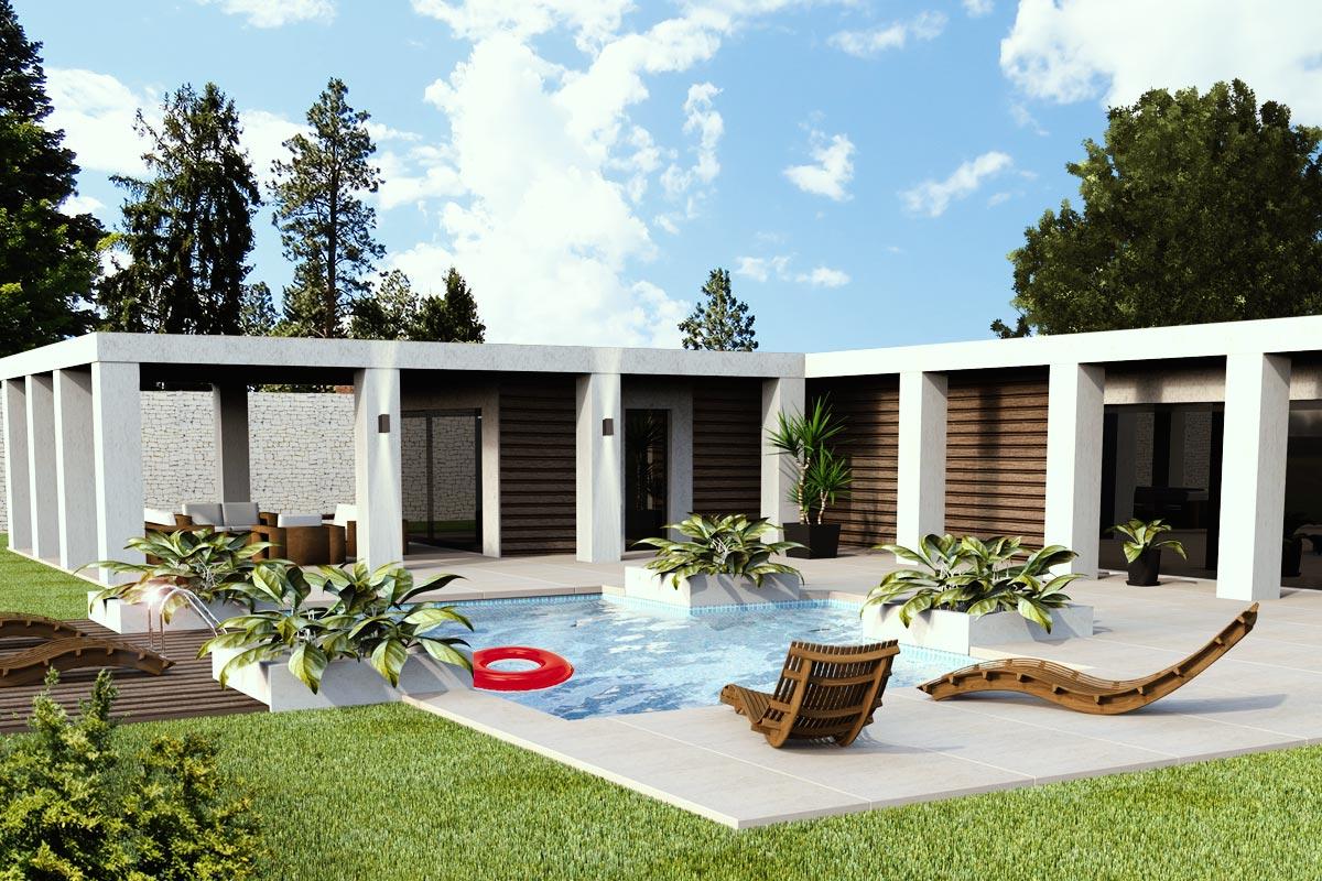 perspective 3d villa
