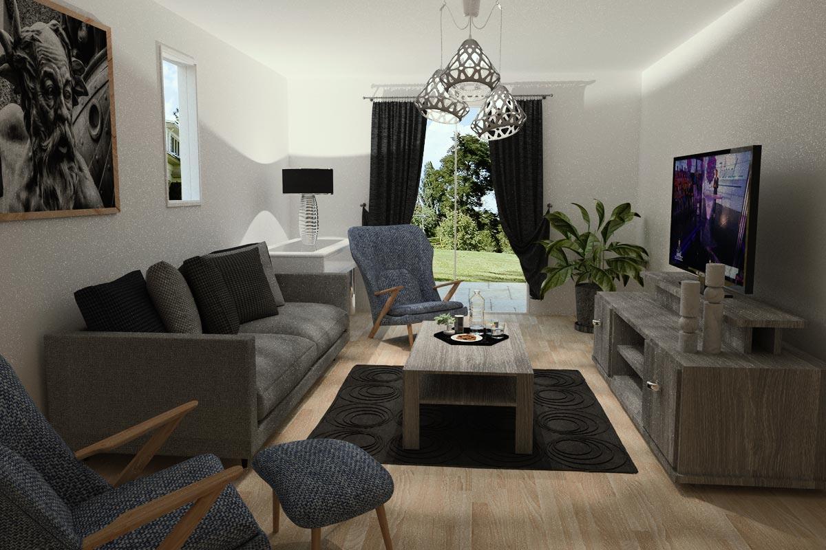Perspective d'intérieur salon 3D