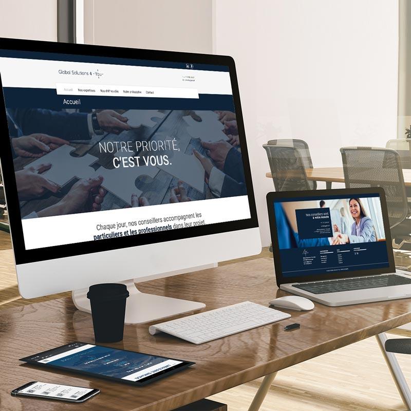 création du webdesign pour le site internet gs4y